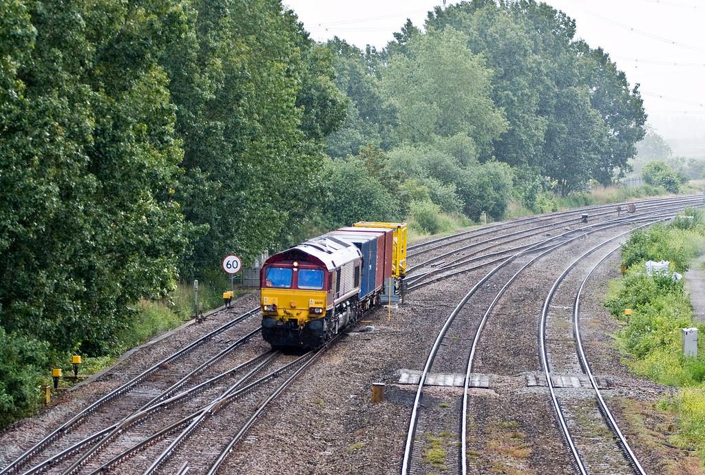 66148, 14.32 Barry Docks ABP-Newport Alexandra Dock Junction, approaching Newport ADJ, 10-6-14.