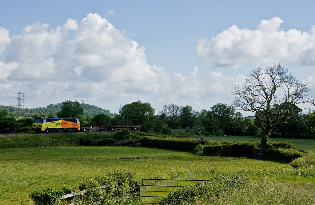 70808, 08.30 Westbury Yard-Newton Abbot Hackney Yard, Pugham Crossing, near Burlescombe, 5-6-14.