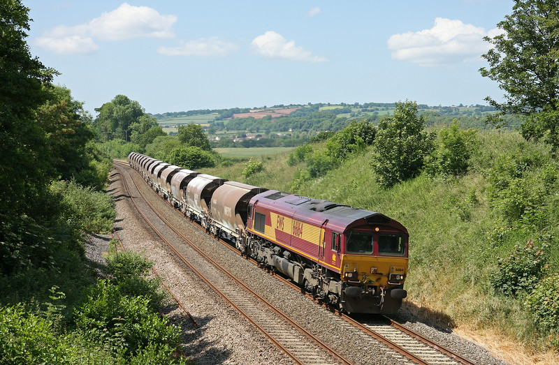 66164, 11.45 Exeter Riverside Yard-Bescot Down Side, Whiteball, 21-6-14.