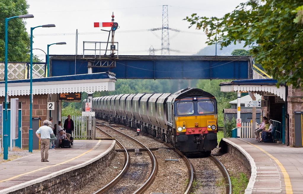 66413, 11.30 Portbury Coal Terminal-Rugeley Power Station, Abergavenny, 19-6-14.