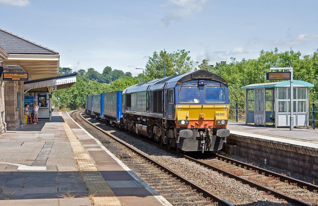 66302, 09.57 Daventry-Cardiff Wentloog, Chepstow, 19-6-14.