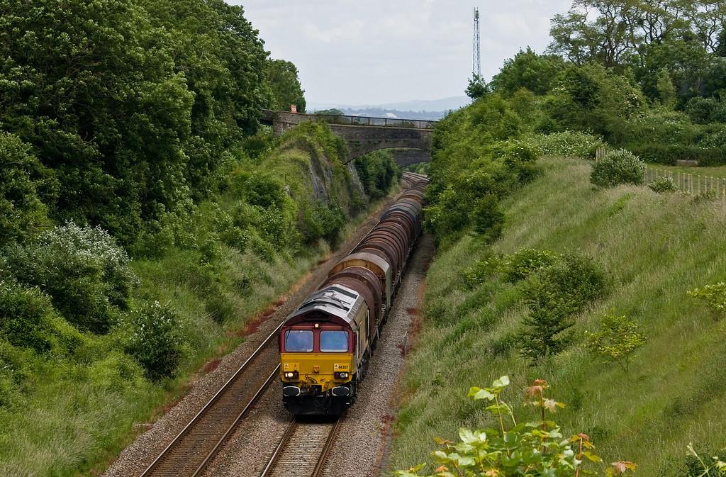 66207, 09.48 Round Oak-Margam, Wye Valley Junction, Chepstow, 10-6-14.