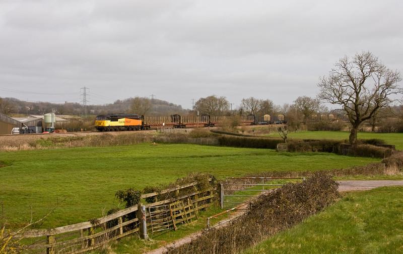 56302, 06.14 Chirk Kronospan-Exeter Riverside Yard, Pugham Crossing, near Burlescombe, 19-3-14.