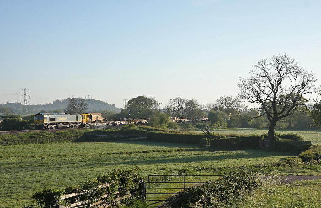 66549, 05.32 Westerleigh Junction-Newton Abbot Hackney Yard, Pugham Crossing, near Burlescombe, 15-5-14.
