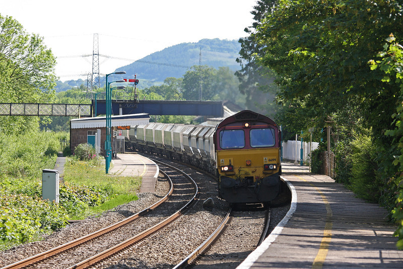 66199, 10.43 Hayes and Harlington Tarmac Sidings-Moreton-on-Lugg, near Hereford, Abergavenny, 21-5-14.