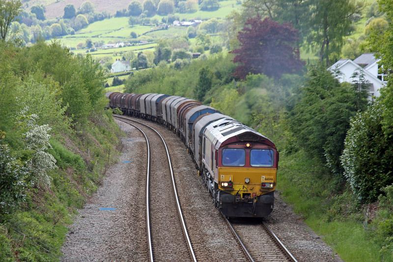 66046, 09.23 Margam-Dee Marsh, via Llanwern, Llanvihangel Crucorney, near Abergavenny, 14-5-14.