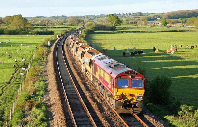 66164/66238, top-n-tail 18.33, Westbury-Truro Pen withers Junction,Tiverton Parkway, 14-5-14.
