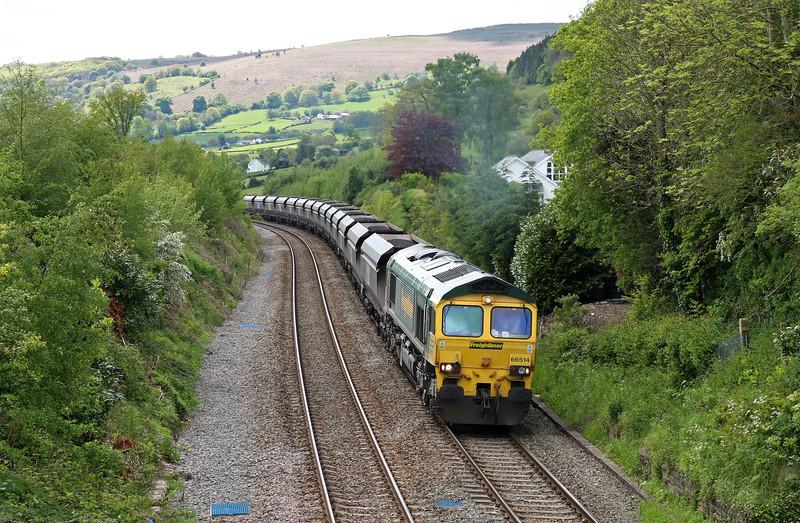66514, 11.03 Avonmouth Bulk Handling Terminal-Rugeley Power Station, Llanvihangel Crucorney, near Abergavenny, 14-5-14.