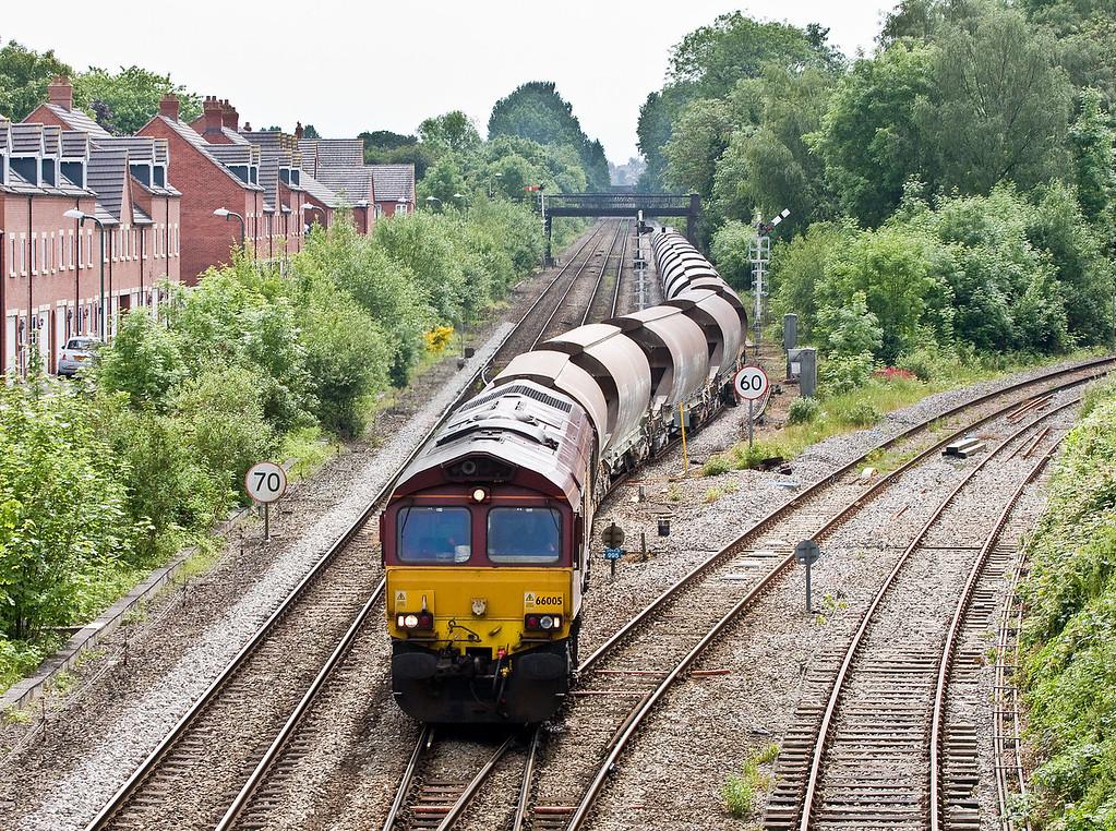66005, 09.55 Newport Alexandra Dock Junction-Bescot Down Sidings, Sutton Bridge Junction, Shrewsbury, 31-5-14.