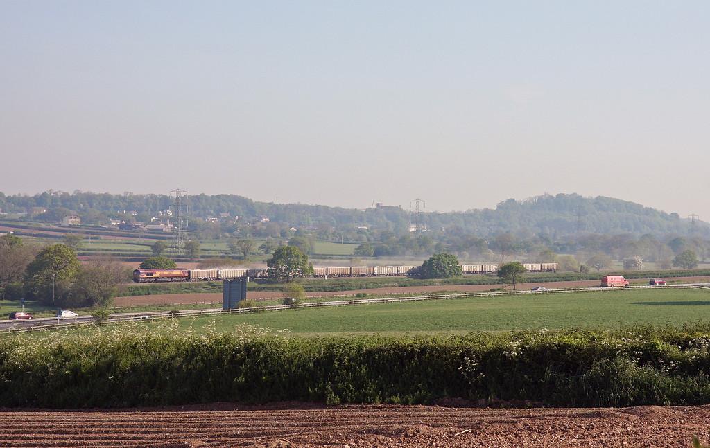 66132, 07.17 Westbury-Exeter Riverside Yard, Pugham Crossing, near Burlescombe, 16-5-14.