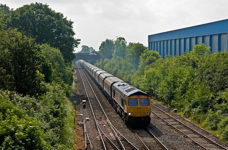 66738, 04.50 Liverpool Bulk Terminal-Ironbridge Power Station, Madeley Junction, Telford, 31-5-14.