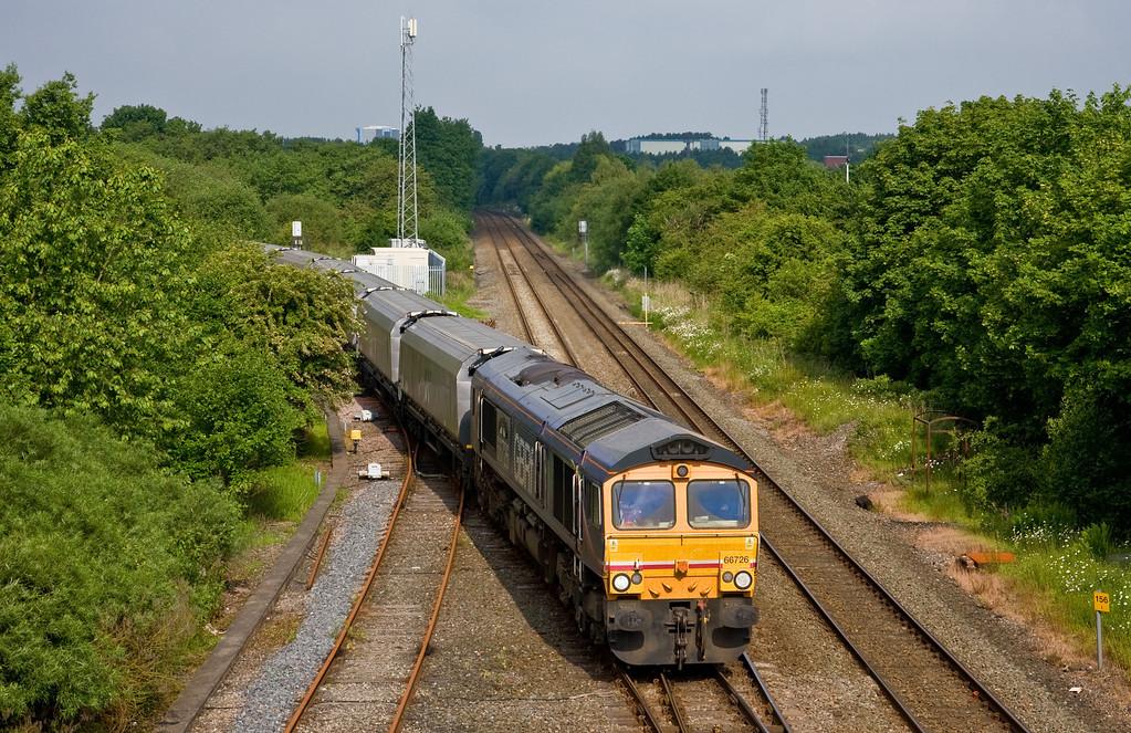 66726, 08.48 Ironbridge Power Station-Liverpool Bulk Terminal, Madeley Junction, Telford, 31-5-14.