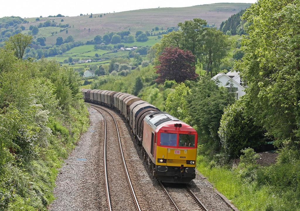 60020, 09.05 Dee Marsh-Margam, Llanvihangel Crucorney, near Abergavenny, 21-5-14.