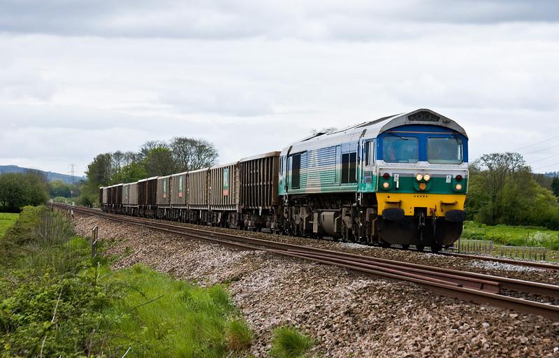 59005, 11.33 Exeter Riverside Yard-Westbury Yard, Pugham Crossing, near Burlescombe, 6-5-14.