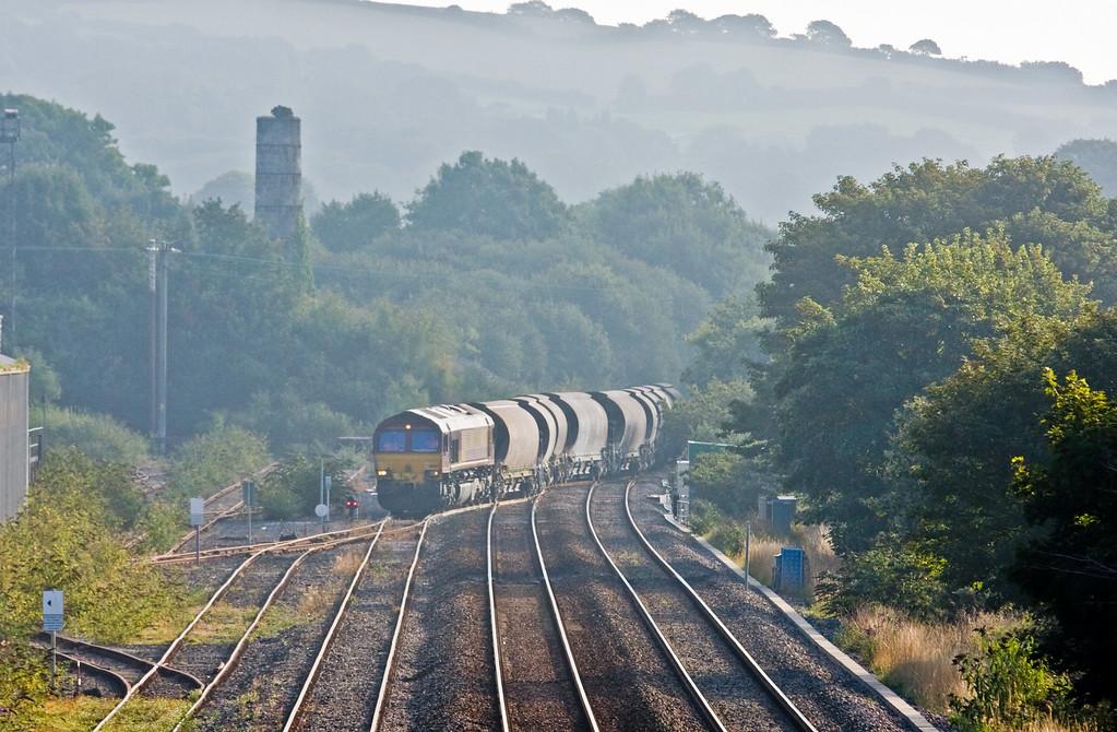 66080, 08.23 St Blazey-Parkandillack, Burngullow Junction, 3-9-14.