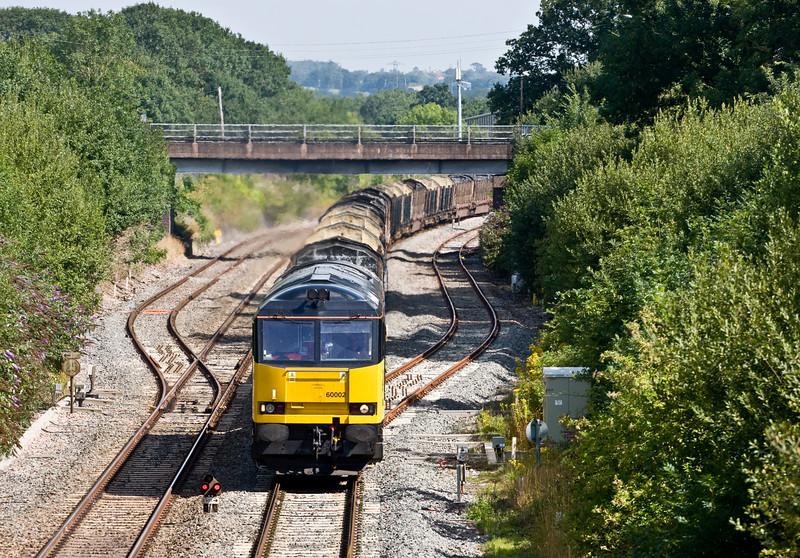 60002, 05.30 Chirk Kronospan-Exeter Riverside Yard, Willand, near Tiverton, 12-8-15.