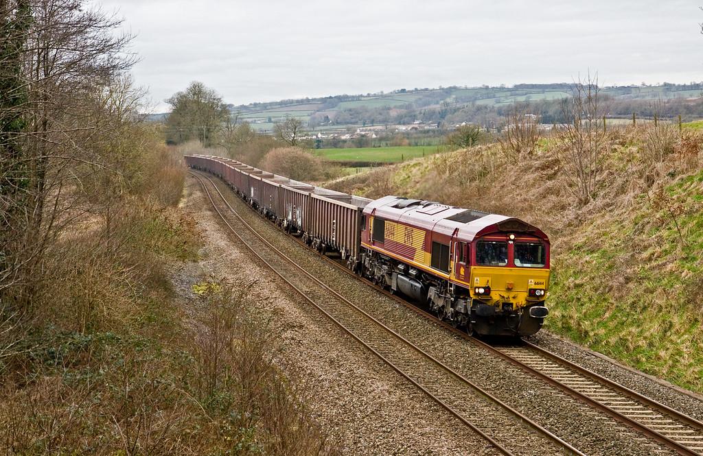 66144, 12.35 Exeter Riverside Yard-Whatley Quarry, Whiteball, 5-2-15.