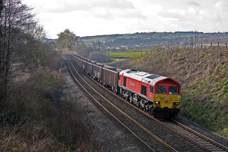 59204, 12.44 Exeter Riverside Yard-Whatley Quarry, Whiteball, 3-2-15.