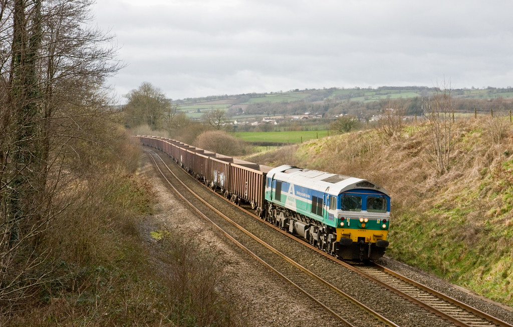 59005, 13.01 Exeter Riverside Yard-Whatley Quarry, Whiteball, 26-1-15.