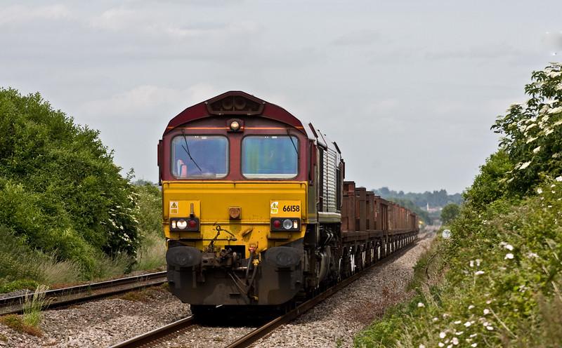 66158, 10.22 Corby-Margam, Woolaston, near Lydney, 18-6-15.