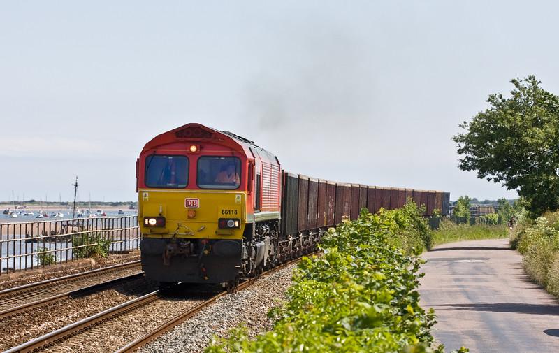 66118, 12.53 Burngullow-Exeter Riverside Yard, Starcross, 15-6-15,