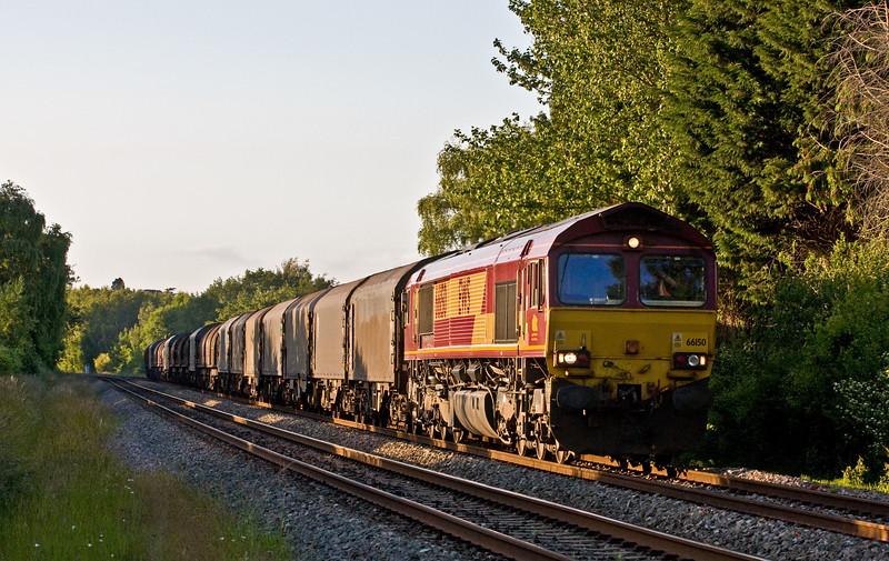 66150, 15.50 Wolverhampton Steel Terminal-Margam, Bullo Pill, near Newnham, Gloucestershire, 18-6-15.