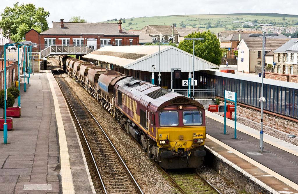 66004, 13.05 Ystrad Mynach-Crewe Basford Hall, Caerphilly, 6-6-15.