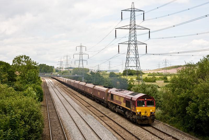 66130, 13.30 Newport East Usk Junction Yard-Onllwyn Washery, Duffryn, Newport, 23-6-15.