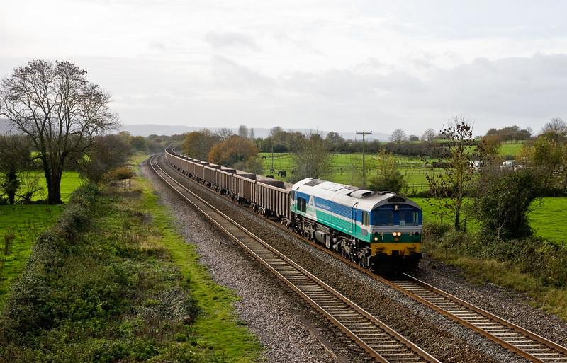 59001, 11.18 Exeter Riverside Yard-Westbury, Cogload, 16-11-15.