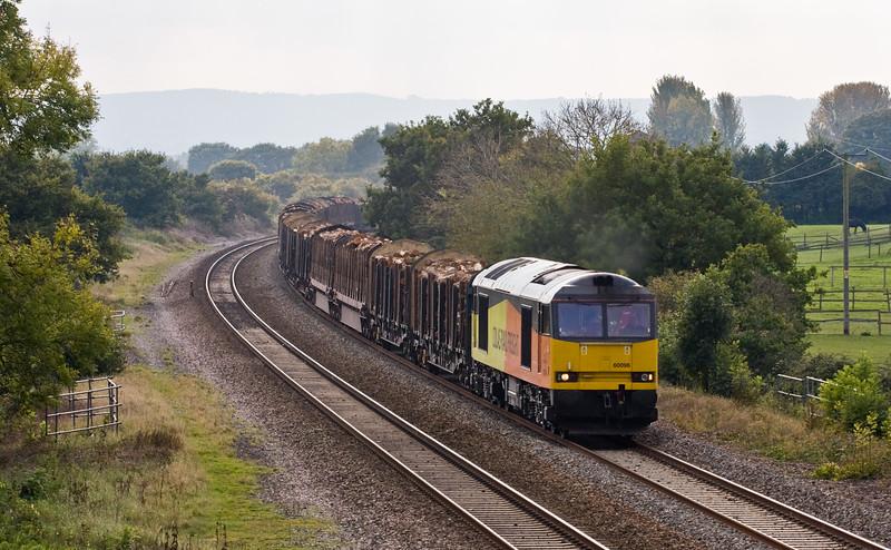 60096, 14.55 Exeter Riverside Yard-Chirk Kronospan, Cogload, 15-10-15.