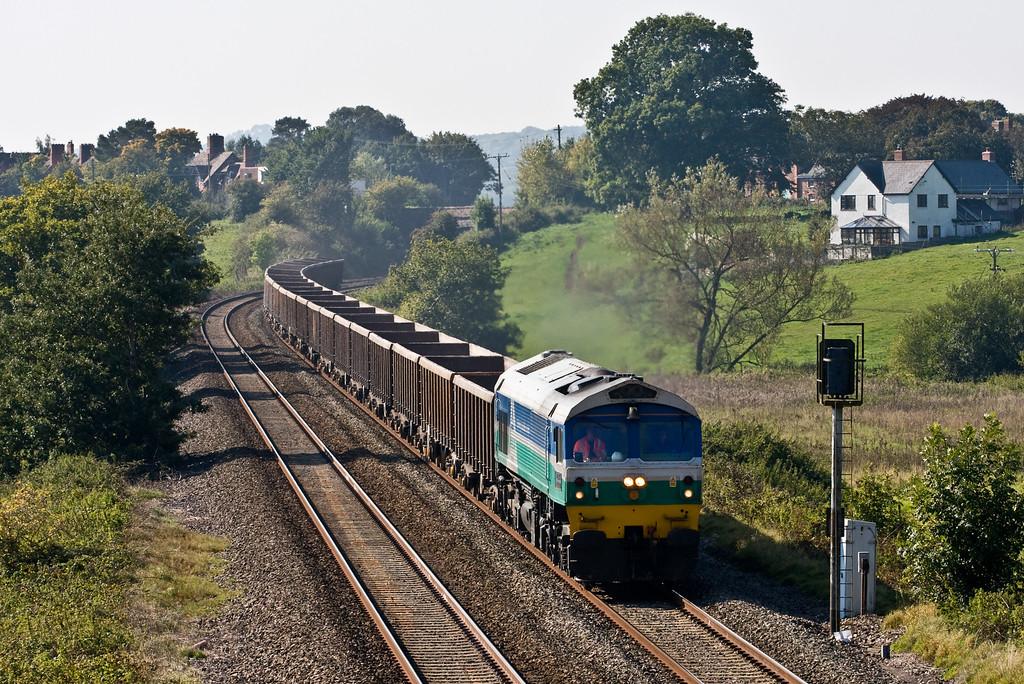 59001, 12.22 Exeter Riverside Yard-WhatleyQuarry, Rewe, near Exeter, 2-10-15.