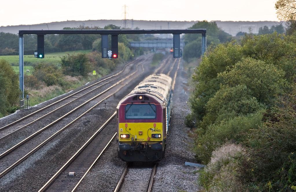 67022, 17.16 Cardiff Central-Holyhead (terninated at Shrewsbury) Coedkernow, near Newport, 8-10-15.