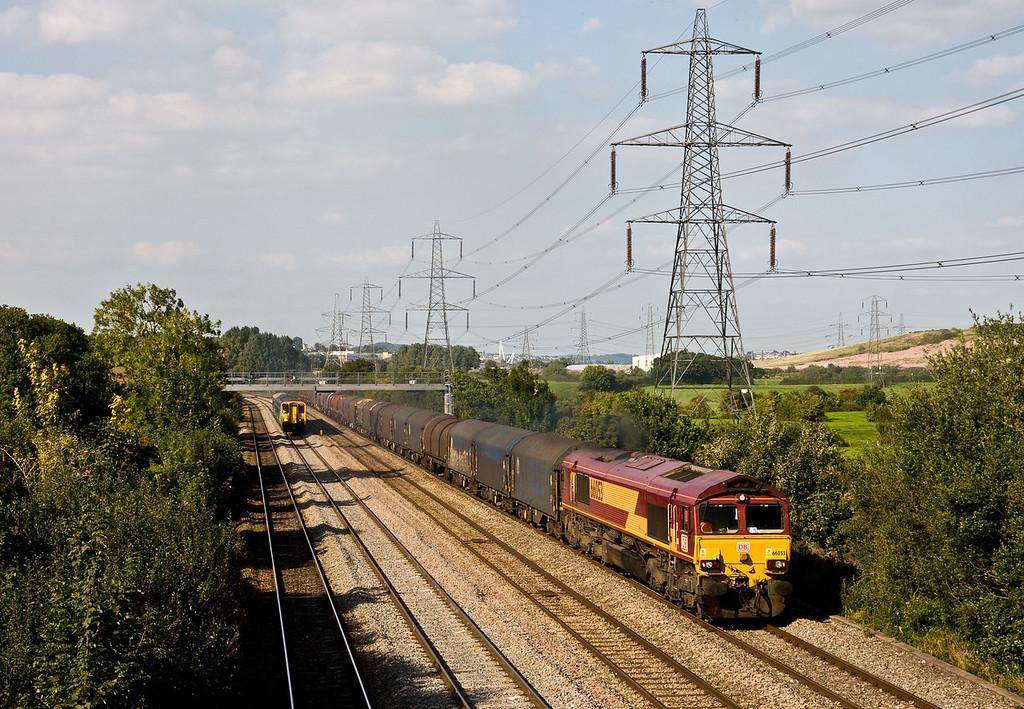 66053, 14.35 Birdport (East Usk branch)-Margam, Duffryn, near Newport, 10-9-15. 150229/153312, 15.37 Ebbw Vale Town-Bridgend.