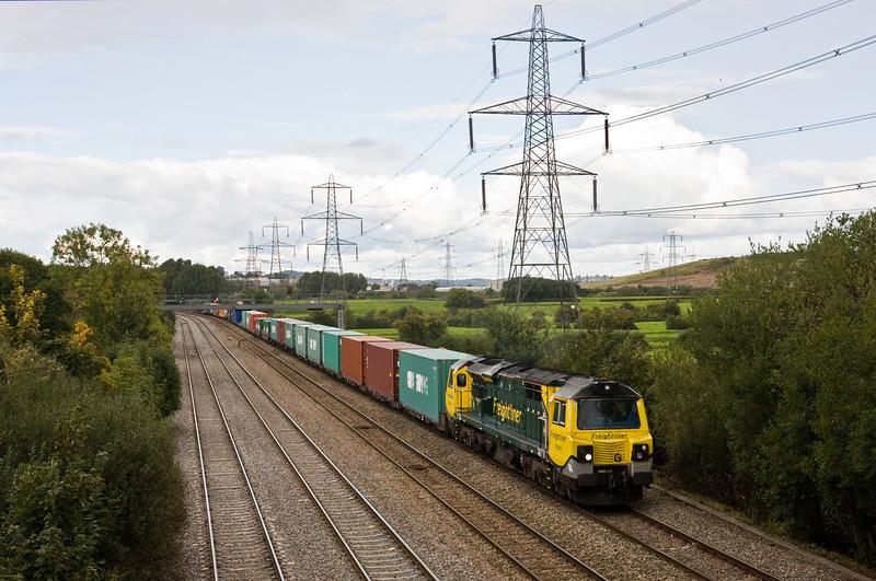 70001, 12.28 Southampton MCT-Cardiff Wentloog,, Duffryn, Newport, 22-9-15.