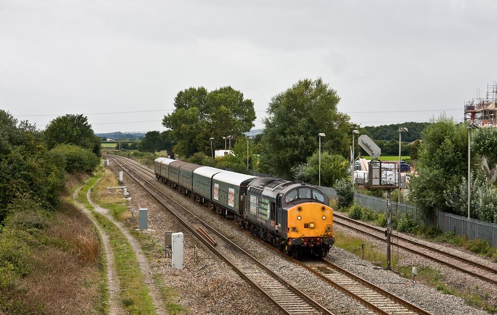 37601, 16.08 Exeter Riverside Yard-Bristol East Depot, Norton Fitzwarren, near Taunton, 3-9-15. Driver training run.