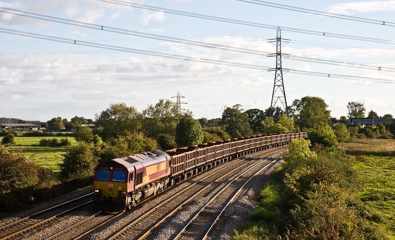 66134, 16.15 Port Talbot Grange Sidings-Rotherham Aldwarke, Duffryn, Newport, 22-9-15.