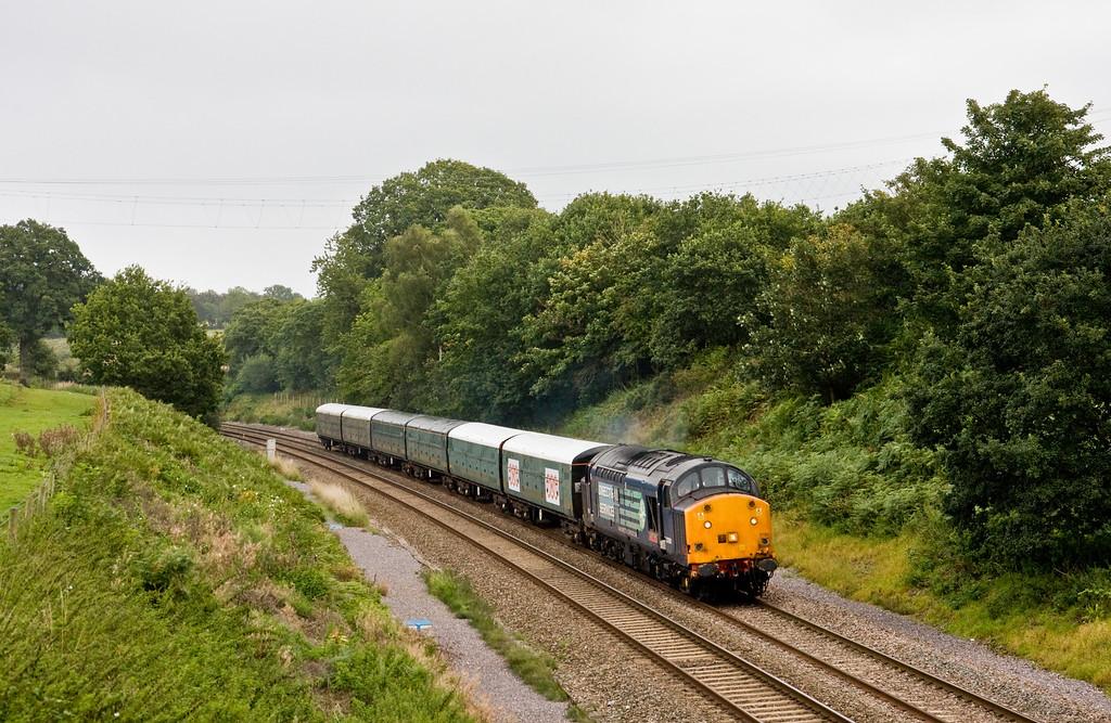 37601, 09.15 Bristol East Depot-Exeter Riverside Yard, Whiteball, 3-9-15. Driver training run.