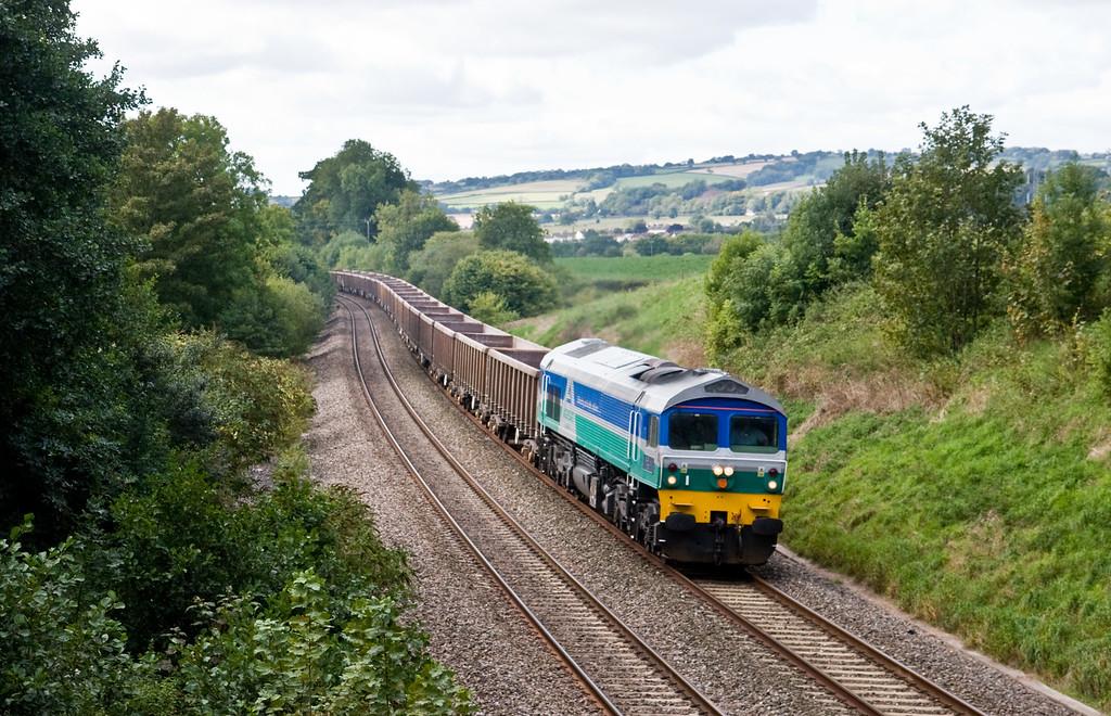 59002, 11.43 Exeter Riverside Yard-Westbury, Whiteball, 23-9-15.