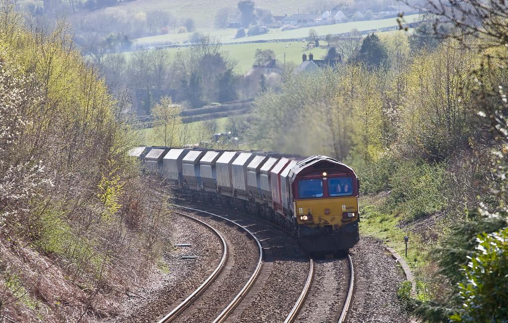 66093, 10.46 Hayes and Harlington Tarmac Sidings-Moreton-on-Lugg, Llanvihangel Crucorney, near Abergavenny, 20-4-16.