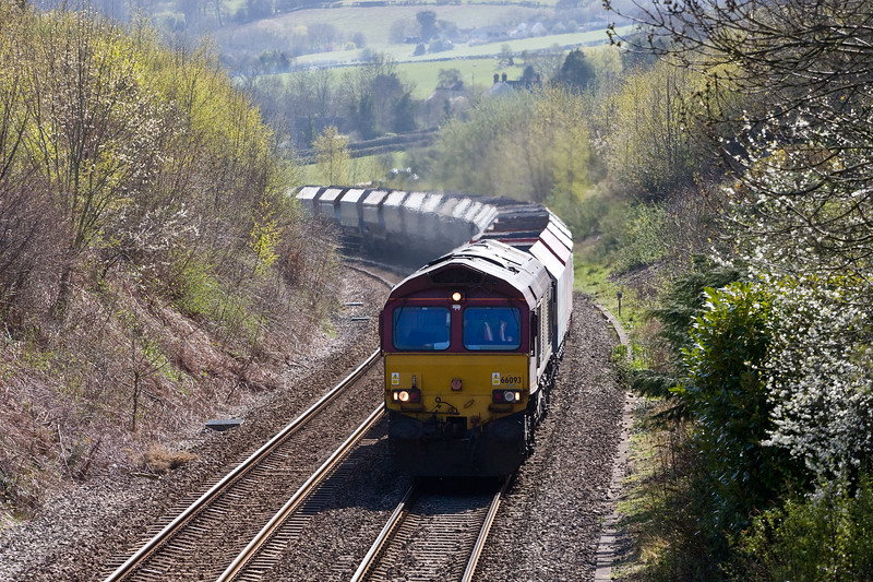 66093, 10.46 Hayes and Harlington Tarmac Sidings-Moreton-on-Lugg, Llanvihangel Crucorney, near Abergavenny, 20-4-16.