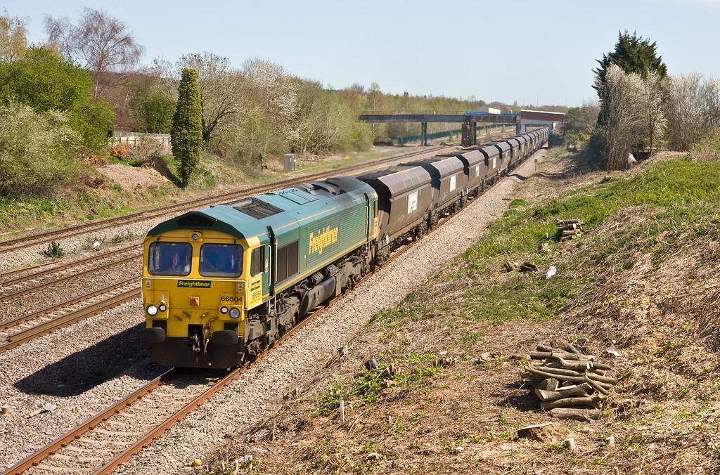 66564, 11.05 Avonmouth Bulk Handling Terminal-Aberthaw Power Station, Undy, near Severn Tunnel Junction, 20-4-16.