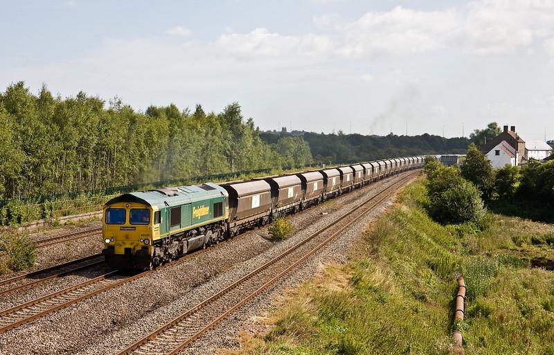 66549, 09.12 Avonmouth Bulk Handling Terminal-Aberthaw Power Station, Undy, near Severn Tunnel Junction, 9-8-16.