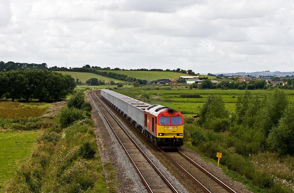 60017, 12.10 Exeter Riverside Yard-Westbury, Wick, near Langport, 8-8-16.
