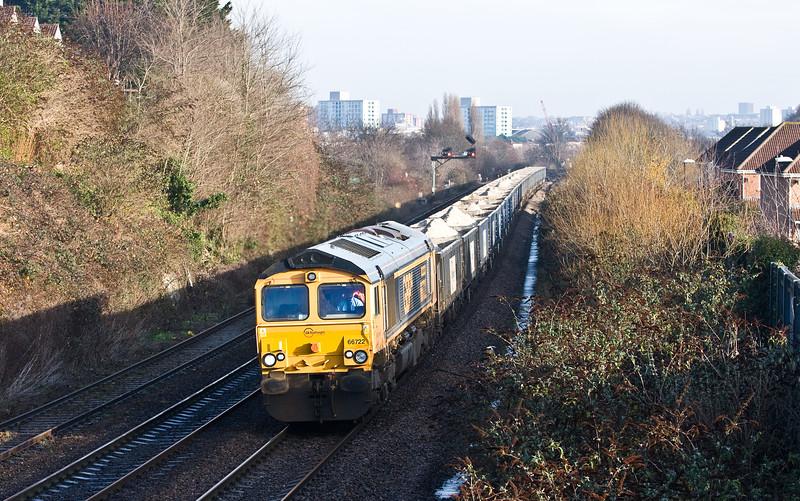 66722, 03.56 West Burton Power Station-Portbury Coal Terminal, Malago Vale, Bedminster, Bristol, 14-12-16.