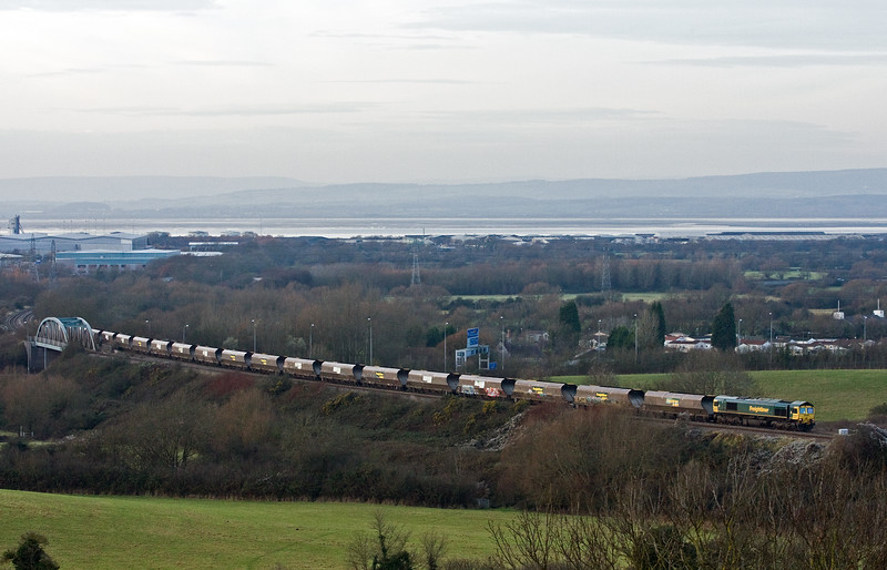 66520, 14.25 Avonmouth Bulk Handling Terminal-Fifoots Power Station, Hallen Marsh, Bristol, 14-12-16.
