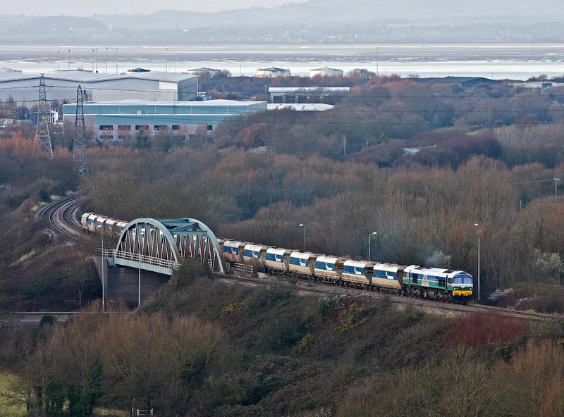 59004, 13.26 Avonmouth Bennett's Siding-West Drayton, Hallen Marsh, Bristol, 14-12-16.