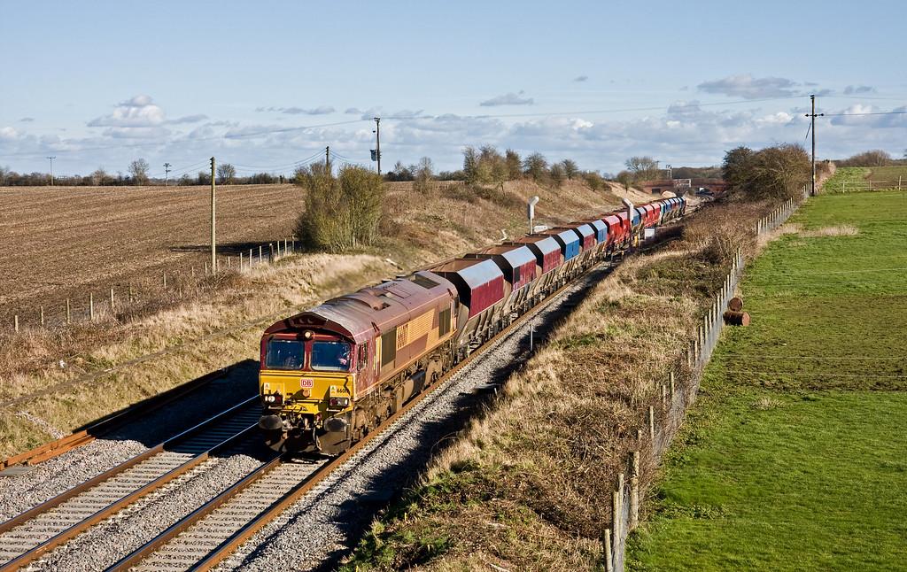 66017, 11.40 London Acton-Moreton-on-Lugg, Bourton, near Swindon, 18-2-16.