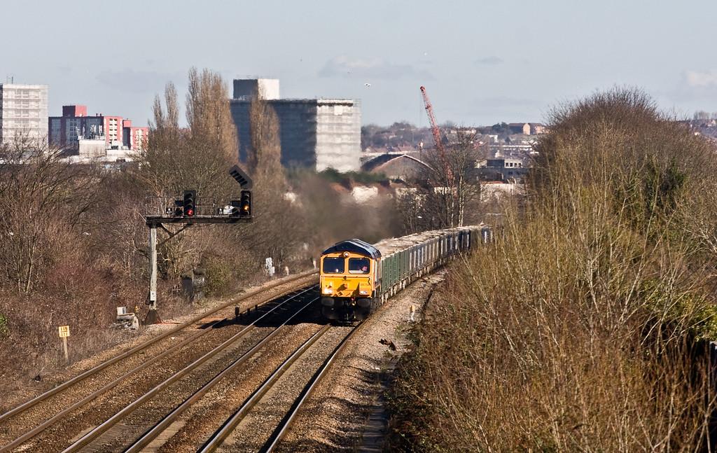 66754, 22.46 Gascoigne Wood Sidings-Portbury Coal Terminal, Malago Vale, Bedminster, Bristol, 24-2-16.