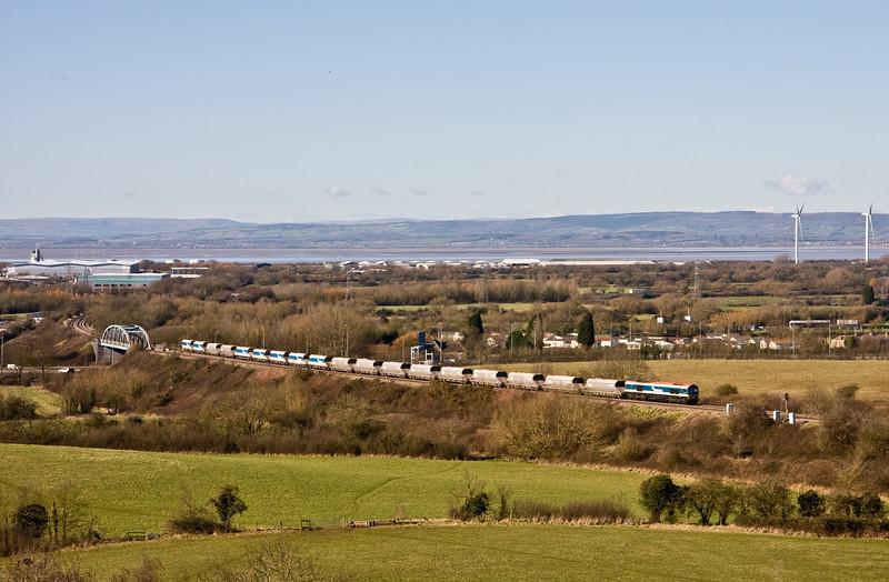 59102, 13.17 Avonmouth  Bennett's Siding-West Drayton ARC, Hallen Marsh, Bristol, 24-2-16.