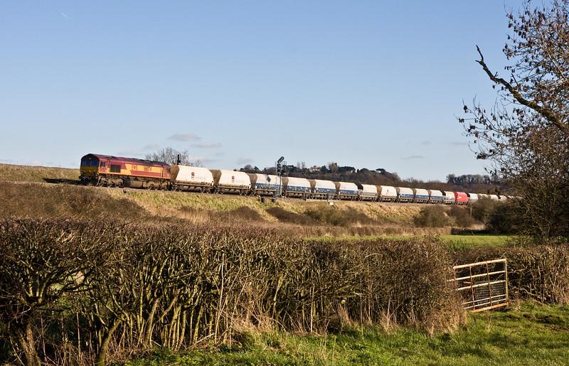 66074, 10.46 Hayes and Harlington Tarmac Sidings-Moreton-on-Lugg, Pilning, 24-2-16.